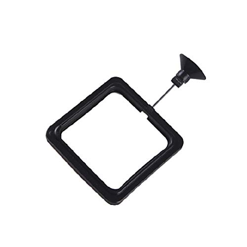 Feeding Ring Aquarium Fish Tank Station Floating Food Feeder Square Round Circle Feeding Frame (A)