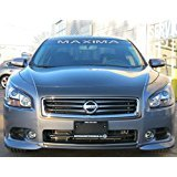 NISSAN MAXIMA WINDSHIELD DECAL (36 INCH) (GRAY) ()
