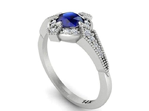 sapphire baguette and art diamonds emerald diamond angle design five ring stone cut with engagement deco
