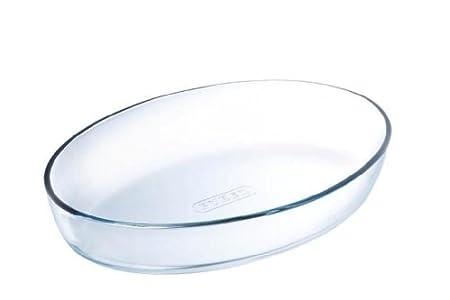 Pyrex – Essentials – Plat à Four Ovale en Verre 21×13 cm