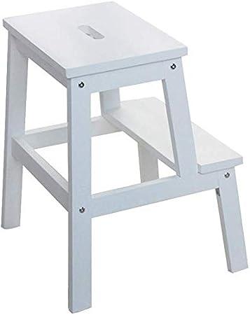 GBX Fácil y multifuncional plegable conveniente taburete de paso, Blanco, Pequeño taburete de madera, extra ancho 2-Escalera plegable para niños pequeños taburetes de baño Kitchenal Foot,Pequeña: Amazon.es: Bricolaje y herramientas