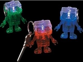 Robot Keychain Light-Up 12 Pack Assorted