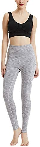 RUNNA Nove Sport e Fitness Che Basa Il Pocket Pantaloni di Stirata di Yoga Semplice Moda Durable (Color : Light Grey, Size : XL)