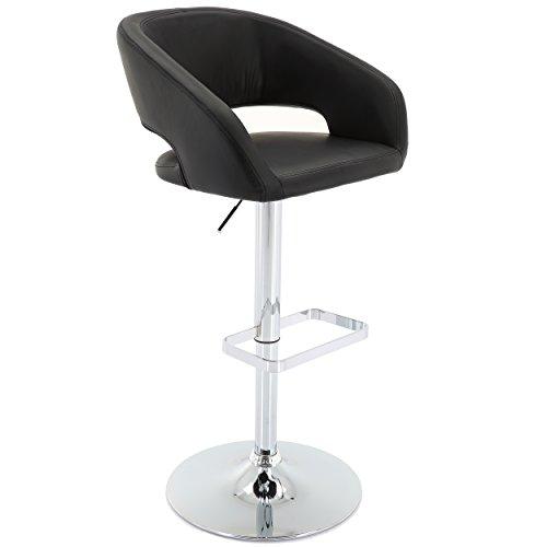 Vogue Furniture Direct Adjustable Leather Barstool, Black (VF1581034)