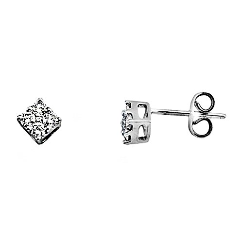Boucled'oreille 0.41ct diamant brillant 18k [AA6408] or blanc