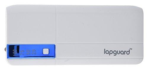 Lapguard LG515 Power Bank 10400 mAh Make In India portable Charger powerbank - White-Blue