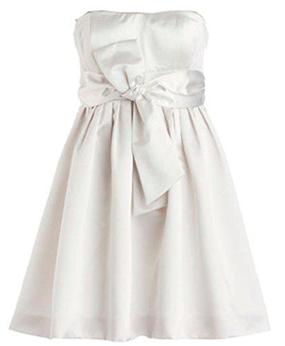 *Maillsa 2014 satin strapless short dress prom dress with sash PP336