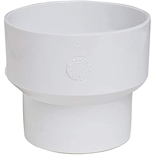 Plastic Trends P661 PVC Reducing Coupling 6 x 4 Dia in Hub for Sewer Pipe