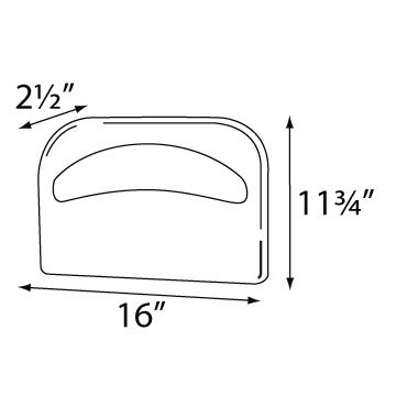 Palmer Fixture TS0142-11 1/2 Fold Toilet Seat Cover Dispenser, Brushed Chrome by Palmer Fixture (Image #1)