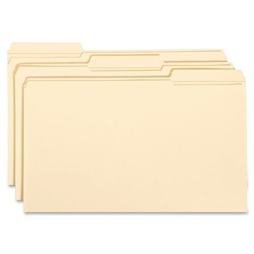 Smead File Folder, Reinforced 1/3-Cut Tab, Legal Size, Manila, 100 Per Box (15334)