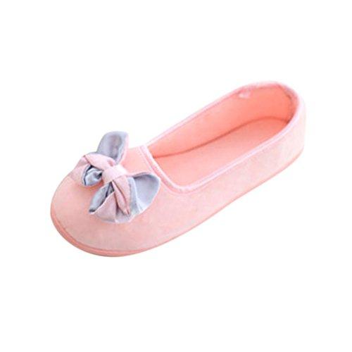 Elevin (tm) Nuove Donne Incinte Pantofole Da Casa Giunture Invernali Scarpe Calde Scarpe Da Yoga Rosa 3