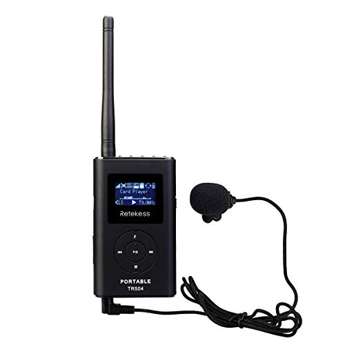 Retekess Portable FM Transmitter Tour Guide System Support AUX Input Music Transmitter for Church Translation