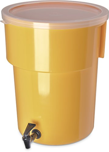 Carlisle 221004 Polyethylene Round Beverage Dispenser, 5 gal. Capacity, 12.37