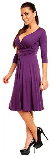 Zeta Villeroy Mujer Borde para interfaz Swing de vestido vestido de verano Cóctel 282z Púrpura