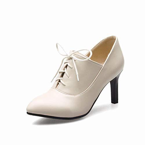 35 Martin Botas Calzado Individuales Puntiagudas Botas Mujer Cordones Ig 7 40 43 tacón botas 5cm Alto pulir qOnAWPx