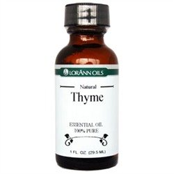 6 Pack- Thyme Oil, Natural- LorAnn 1oz bottles by City Chocolates