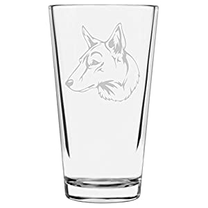 Saarloos Wolfdog Dog Themed Etched All Purpose 16oz Libbey Pint Glass 17