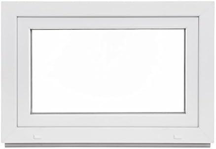 Kunststoff Panorama24 Kellerfenster DIN rechts wei/ß LAGERWARE 60mm Profil 3-fach-Verglasung BxH: 80x80 cm Fenster