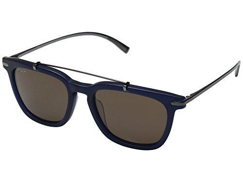 Salvatore Ferragamo Men's SF820SM Matte Blue - Ferragamo Salvatore Sunglasses