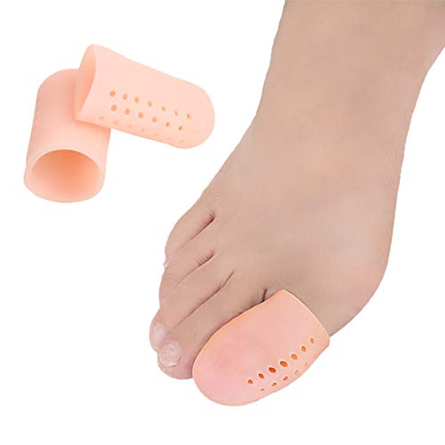 Big Toe Protectors Gel Toe Caps 10 PCS, New Breathable Toe Covers with Holes for Blisters, Corns, Broken Toe, Ingrown Toenail - Silicone Toe Cushions for Shoes for Women & Men - Large ...
