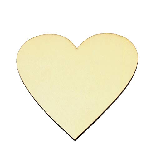 Center Cut Out Heart - Unfinished Wood Cutout - Heart-Shaped Wood Pieces for Wooden Craft DIY Projects, Signs, Wedding Decoration (6)