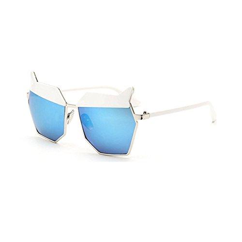 de nouvelles lunettes de soleil les lunettes de soleil les yeux des femmes élégante korean mesdames la personnalité des étoiles un miroirfilm de poudre case (sac) eR1Imi