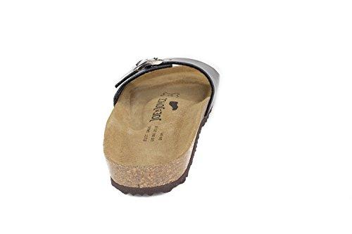 JOE N JOYCE Damen Porto Soft-Fußbett Metallic Synsoft Sandalen Pantoletten Bordeaux Größe 37 Schmal