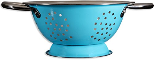 Palais Dinnerware 'Passoire' Collection, High Quality Stainless Steel Colander (1.5 Quart, Aqua - Quart 1.5 Colander