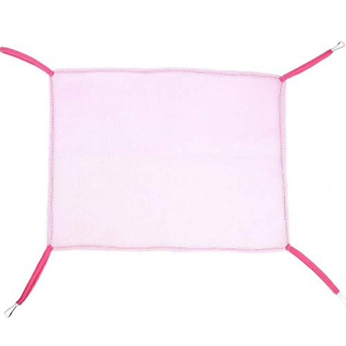 PJDDP Hamster Hammock with Breathable Mesh Soft and Comfortable, Strong Tolerance for Small Animals,Pink,M