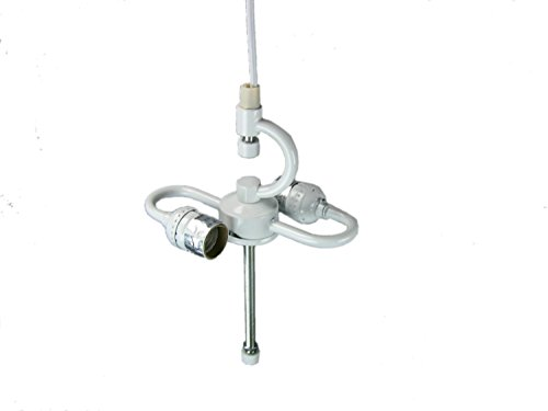 Plug In 2 Light Swag Pendant Light Conversion Kit White- Turn any Lampshade into a Hanging Swag Lamp in Seconds - Perfect for Apartments, dorms - No Wiring Needed (Hanging Pendant Swag Lamp)