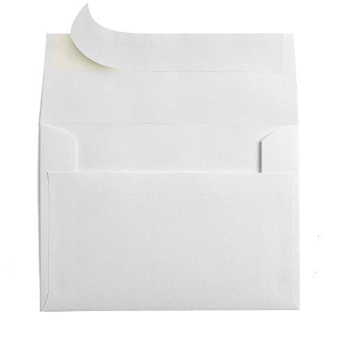 50 white a7 self seal 5x7 envelopes fits 5 x 7 invitations 5 25 x