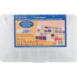 Bulk Buy: Darice Deluxe Bead Organizer 13 3/4in.C8 1/2in. 32 Compartment (2-Pack) by Darice