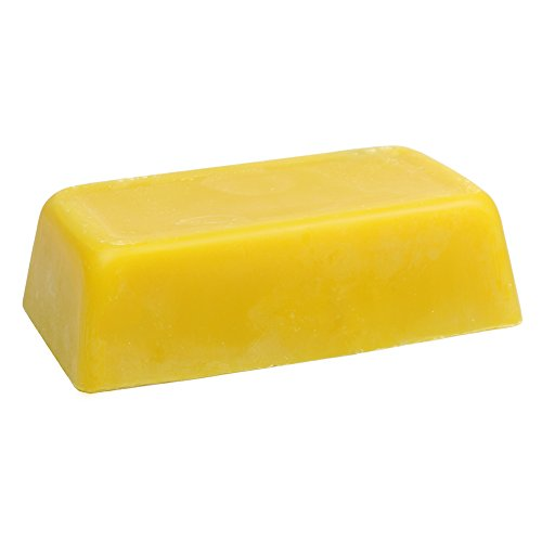 2 Pound Raw Settled Yellow Beeswax (Unbleached) Great for Many Uses