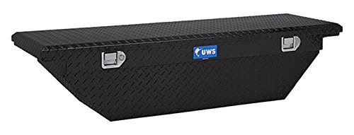 UWS TBS-63-A-LP-BLK Black Single Lid Low Profile Aluminum Toolbox with Beveled Insulated Lid