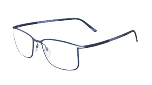 Silhouette Eyeglasses Titan Contour 5438 6056 Blue Optical Frame (6056 Eyeglasses)