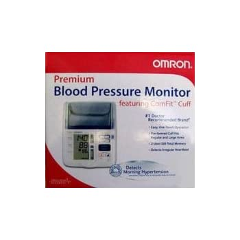 Omron Blood Pressure Monitor HEM-775 Premium Automatic with ComFit Cuff Patented IntelliSense® Technology