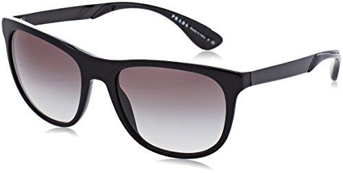 Prada grey black pr Sonnenbrille Negro 04ss 0wAP0qr
