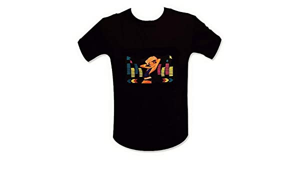 Camiseta del Ecualizador de iluminación LED de luz Rubia DJ Talla L: Amazon.es: Ropa y accesorios