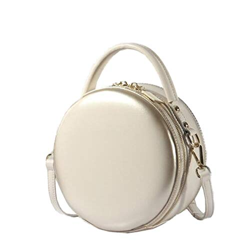 Véritable Sacs En Messenger Ronds White Petits Bandoulière à Cuir Sacs Mini à Vintage Pour Femme Main Sacs Hobos pXzqAwW