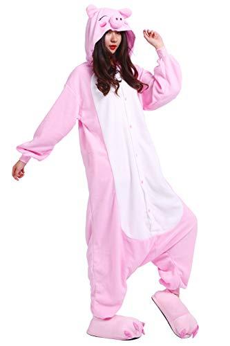 Cerdo Cosplay Rosa Kigurumi Pijama Unisex Adulto Animal w4pXtT1q