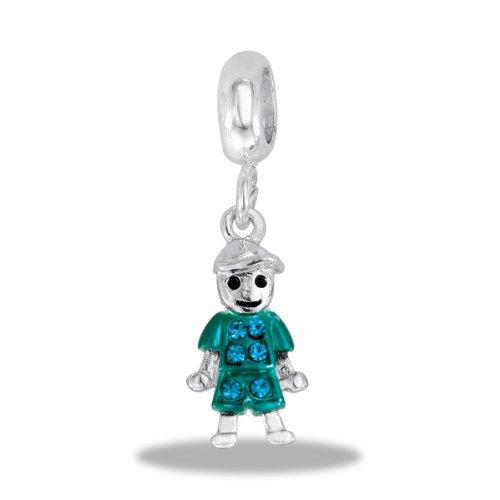 DaVinci Bead December Boy Dangle - Jewelry Bracelet Memories Beads DB46-10-DAV
