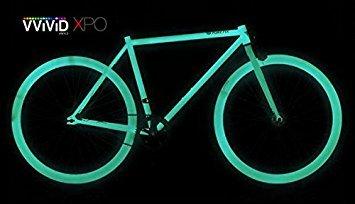VViViD/® Green Glow in the Dark Vinyl Wrap Luminous Adhesive Film 12 x 24 Air Release DIY Decal Sheet