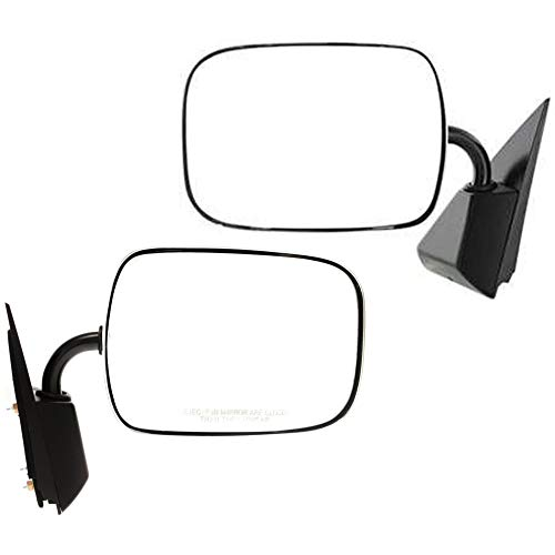 Manual Mirror compatible with Chevy C/K Full Size Pickup 88-02 Right and Left Side Manual Folding Non-Heated Below Eyeline Type Steel Chrome