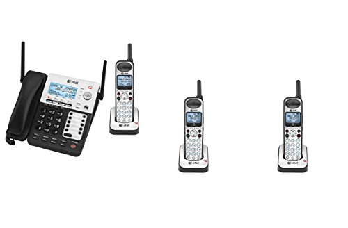 AT&T SynJ 4-Line Corded/Cordless SMB Phone System SB67138 w/ 3 Cordless Handsets (Small Business Phone System Automated Attendant And Voicemail)