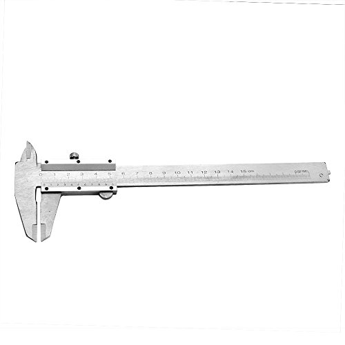 Lilys Gift Portable Metal Millimeter Vernier Slide Caliper Ruler Gauge Measuring Tool