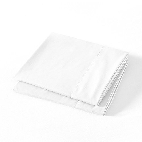 Luxe Basics Cover - BASIC CHOICE Microfiber Pillow Cases, Set of 2 (White, Standard/Queen)
