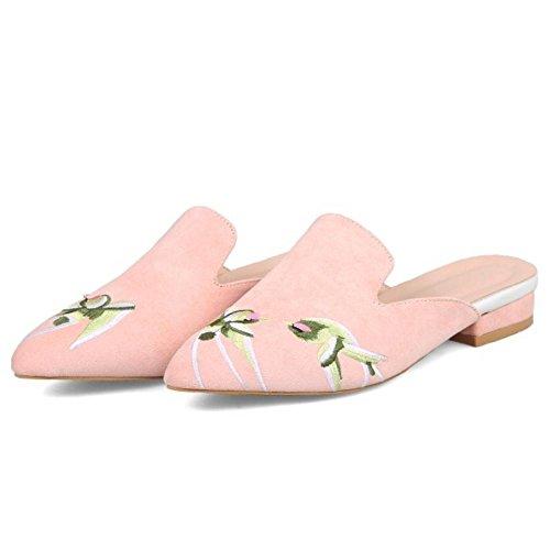 Scarpe Sandali Zanpa Donna Ricamate da Pink fqa8xw7H