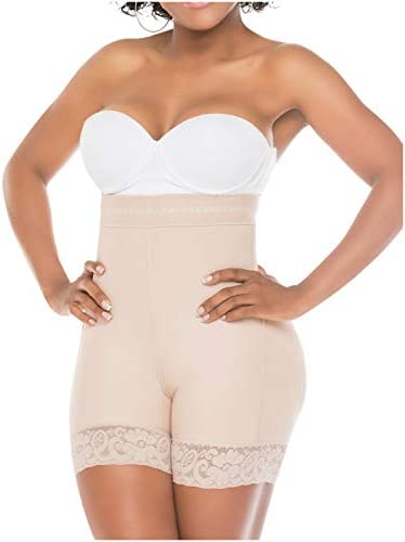 Salome 0218 High Waist Compression Shapewear Tummy Control BBL Shorts Fajas Colombianas para Mujer Levanta Cola