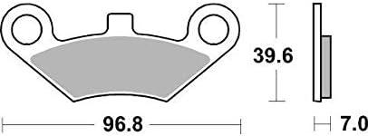 Goes G 525 G525 12 13 14 SBS Performance avant Off Route Frittage Fritt/é Plaquettes de Frein Set Qualit/é Origine 914SI