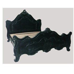 Black French Style 5ft Ornate Bed Frame Amazon Co Uk Kitchen Home